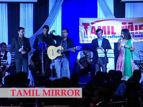 Pravin Saivi and Nirjany at Tamil Mirror Gala