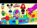Lego Lose Heads while Playing on Play Doh Mega Fun Factory Playset!