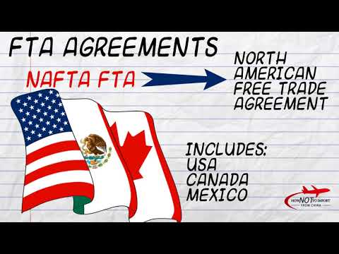 International Shipping - Free Trade Agreements (FTA)
