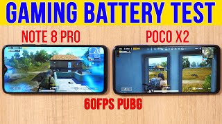 POCO X2 vs Note 8 Pro: Gaming with GFX Tool | Battery Drain Test | 120Hz Screen Worth it? [Hindi]