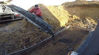 #vlog budowlany. Zalewanie płyty fundamentowej pod zejście do piwnicy.