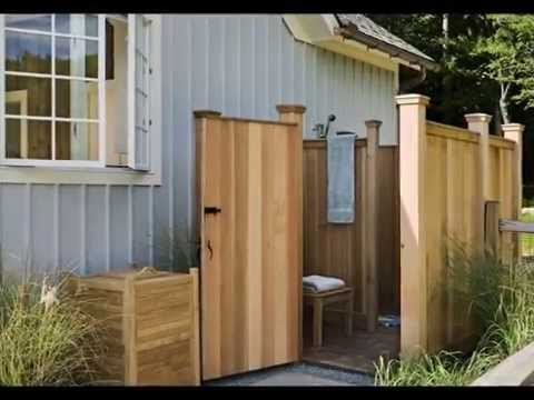 outdoor shower designs youtube. Black Bedroom Furniture Sets. Home Design Ideas