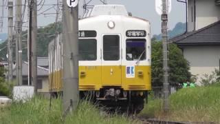 高松琴平電気鉄道(ことでん)琴平線 岡田駅 1200形・1080形電車 列車交換