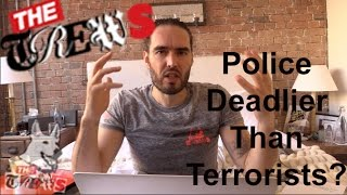 Homeless Man Shot By LAPD - Are Police Deadlier Than Terrorists? Russell Brand The Trews (E267)