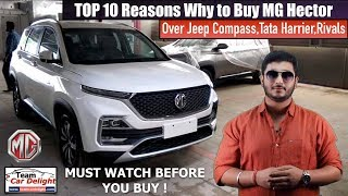Mg Hector Top 10 Reasons to Buy Over Rivals | Mg hector vs Jeep Compass vs Harrier