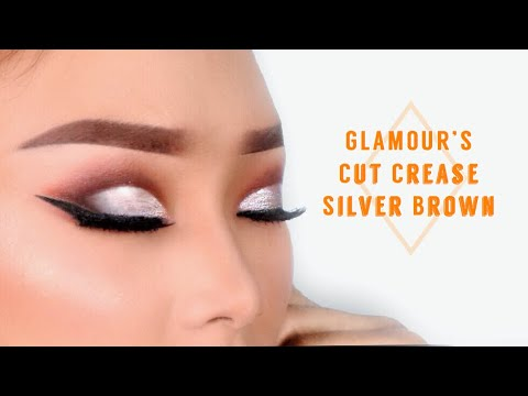 Glamour Cut Crease Silver Brown Eyeshadow Tutorial
