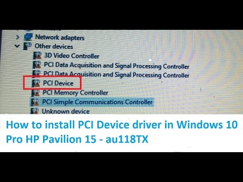Pci univeral serial bus driver not installing fix windows lenovo.