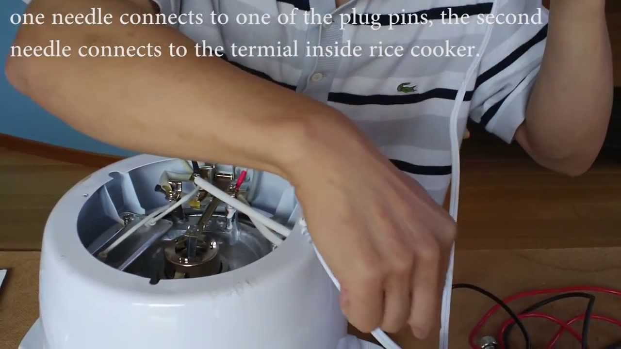 electric cooker switch wiring diagram wire for honeywell thermostat rice repair youtube