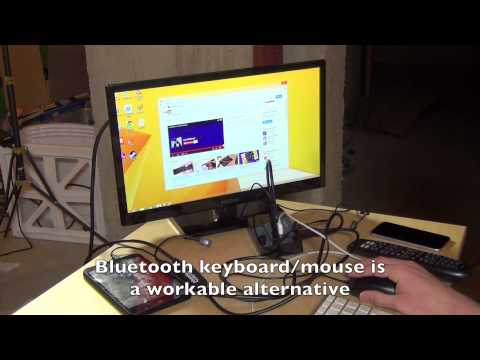 HP Stream 7  - Using a Plugable USB to HDMI adapter via OTG for external 1080p displays