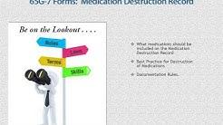 65G-7 Forms - Medication Destruction Record