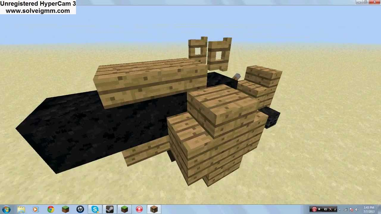 Tutorial how to build a cannon carriage in minecraft for How to build a carriage