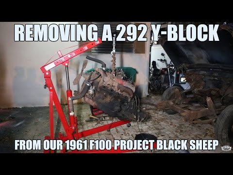 How To Remove a 292 Y-Block Motor | Unibody Union Project