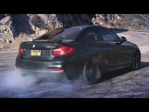 Дрифт на BMW M235i в горах, обзор и тест-драйв, сравнение с BMW M2