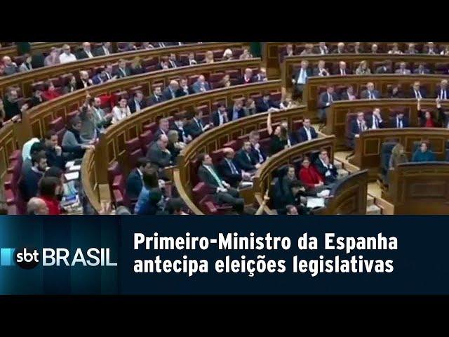 Primeiro-Ministro da Espanha antecipa eleições legislativas | SBT Brasil (15/02/19)