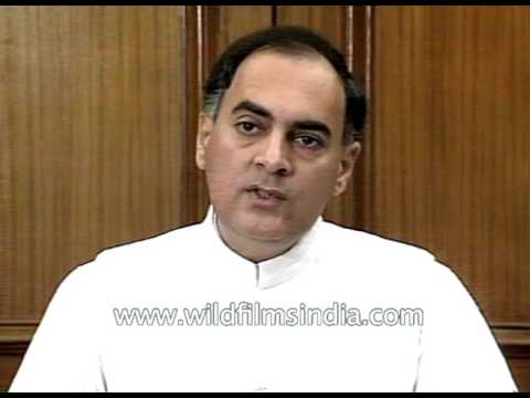 Rajiv Gandhi wishes the new government of India in an interview