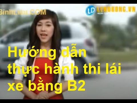 Sát hạch lái xe B2: Các bài thi lái xe trong sa hình