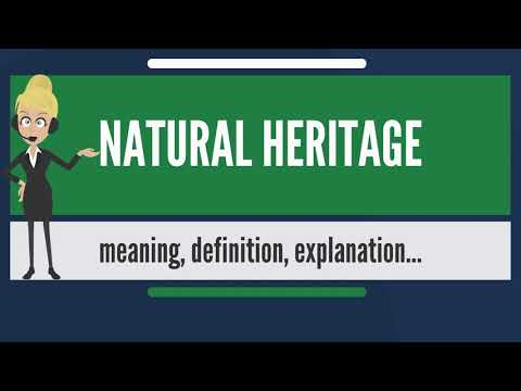 What is NATURAL HERITAGE? What does NATURAL HERITAGE mean? NATURAL HERITAGE meaning & explanation