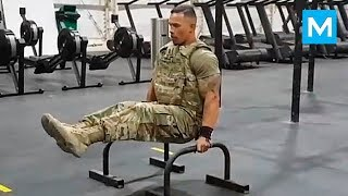 STRONGEST Soldier In Army Gym Diamond Ott , Muscle Madness