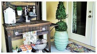 Diy:  Potting Bench Turned Outdoor Bar