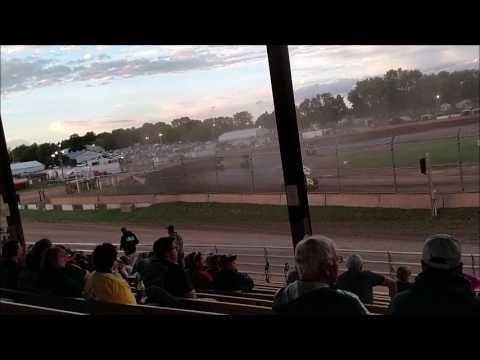 Plymouth Dirt Track Sprint Car B Main mp4 6 24 2017