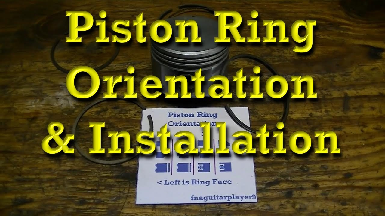 piston ring orientation & installation tips