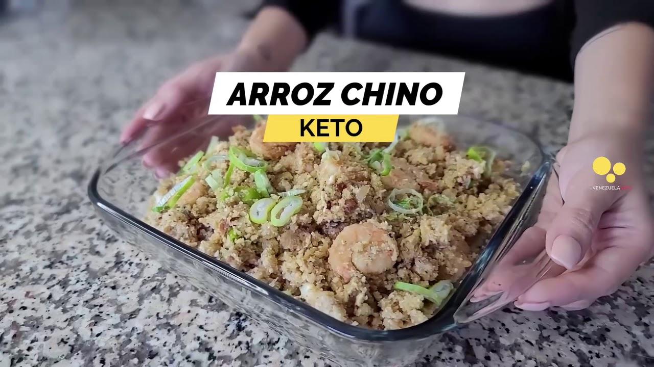 Arroz chino keto con coliflor