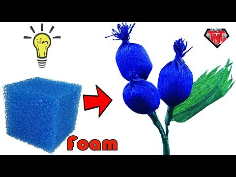 Crepe Paper Fruits Tutorial Easy   How To Make Blueberry Bush   Foam Flower Craft Ideas