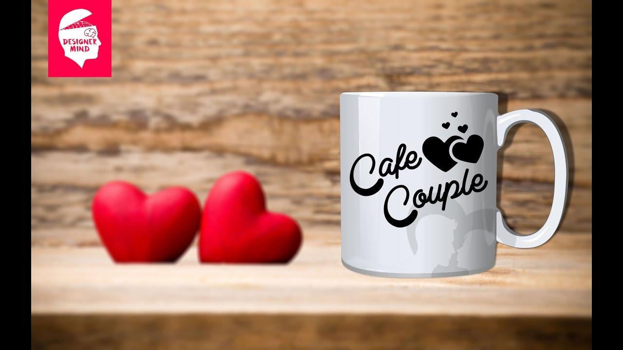 photoshop tutorials logo design on mug youtube