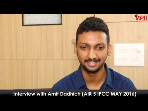 Interview with CA IPCC AIR 5 Ranker - Mr. Amit Dadhich in Hindi