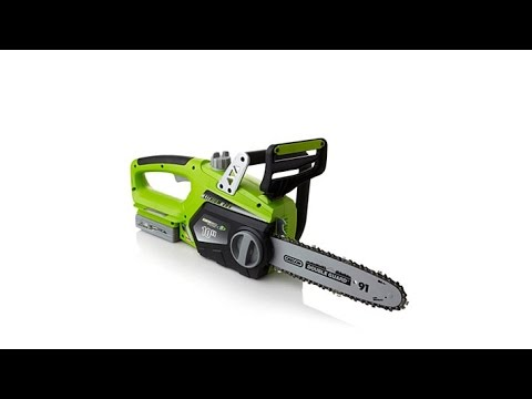 Earthwise 10 cordless lithium ion chainsaw youtube earthwise 10 cordless lithium ion chainsaw greentooth