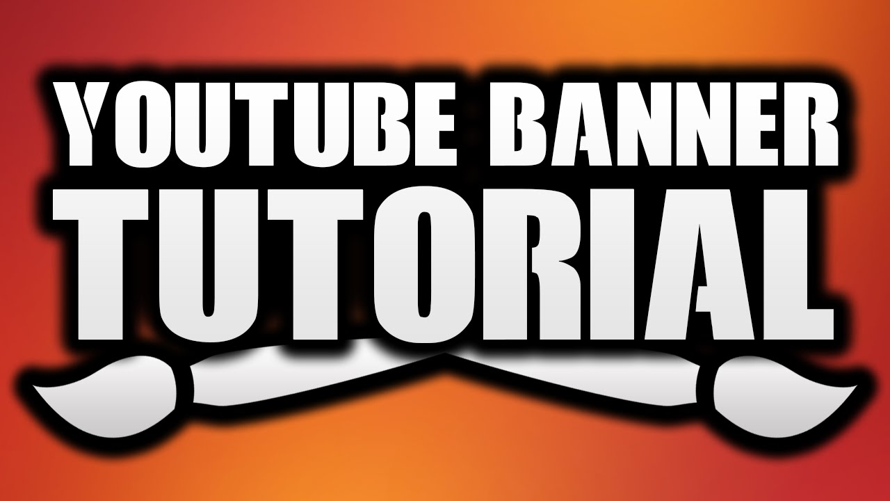 how to make a youtube banner in photoshop channel art tutorial youtube