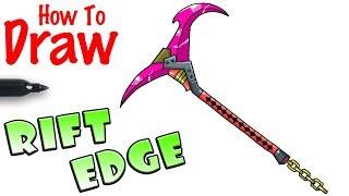 How to Draw Rift Edge Pickaxe | Fortnite