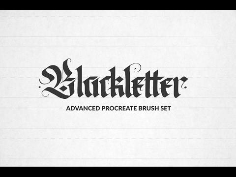 """Advanced Blackletter Procreate Brushes"" Demo"