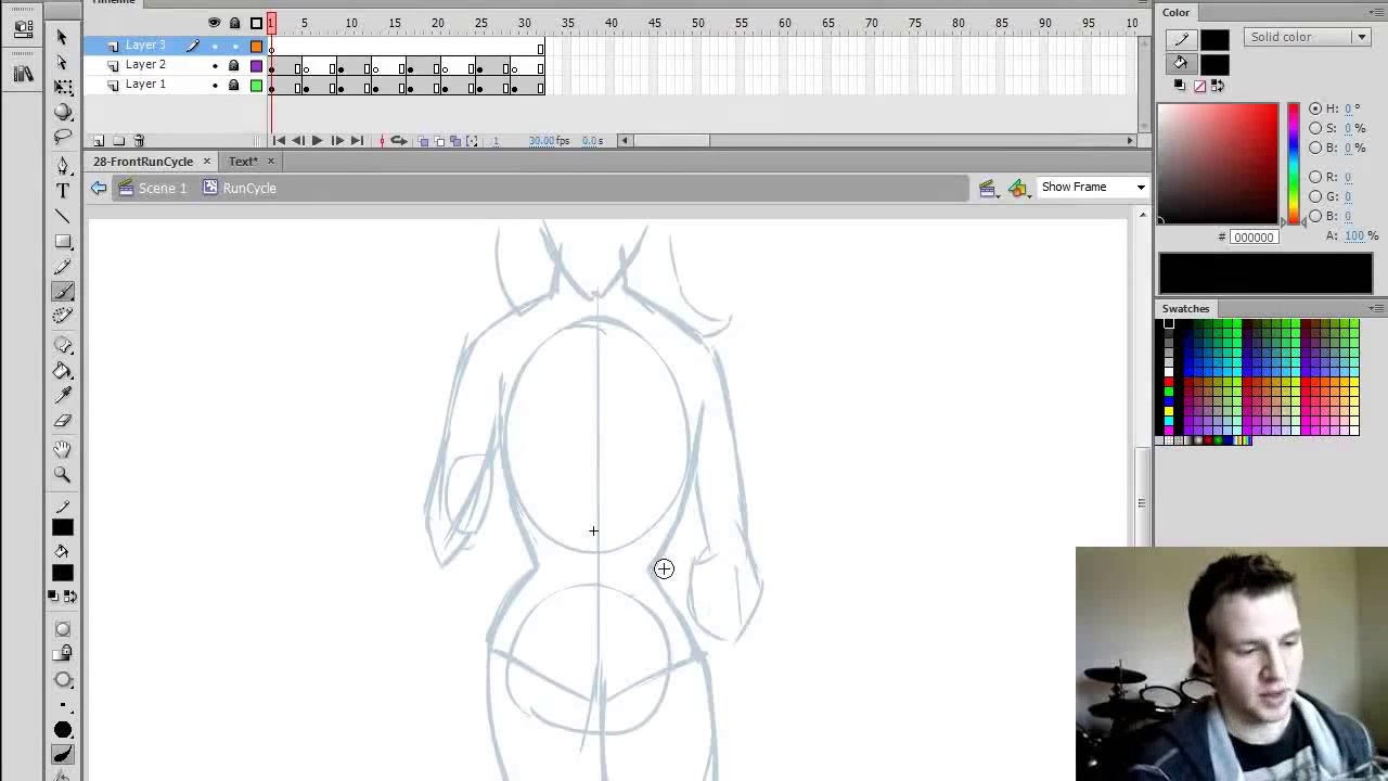 How To Animate: Front Facing Run Cycle