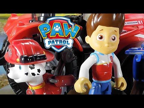 Paw Patrol | Patrulla Canina Español Juguete de Tractor Rojo