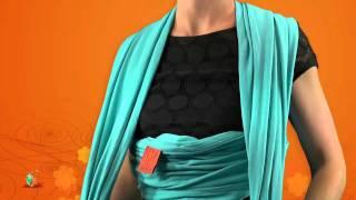 comment mettre écharpe de portage