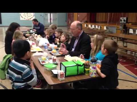 Minnesota Health Commissioner eats lunch with Faribault Lutheran School students