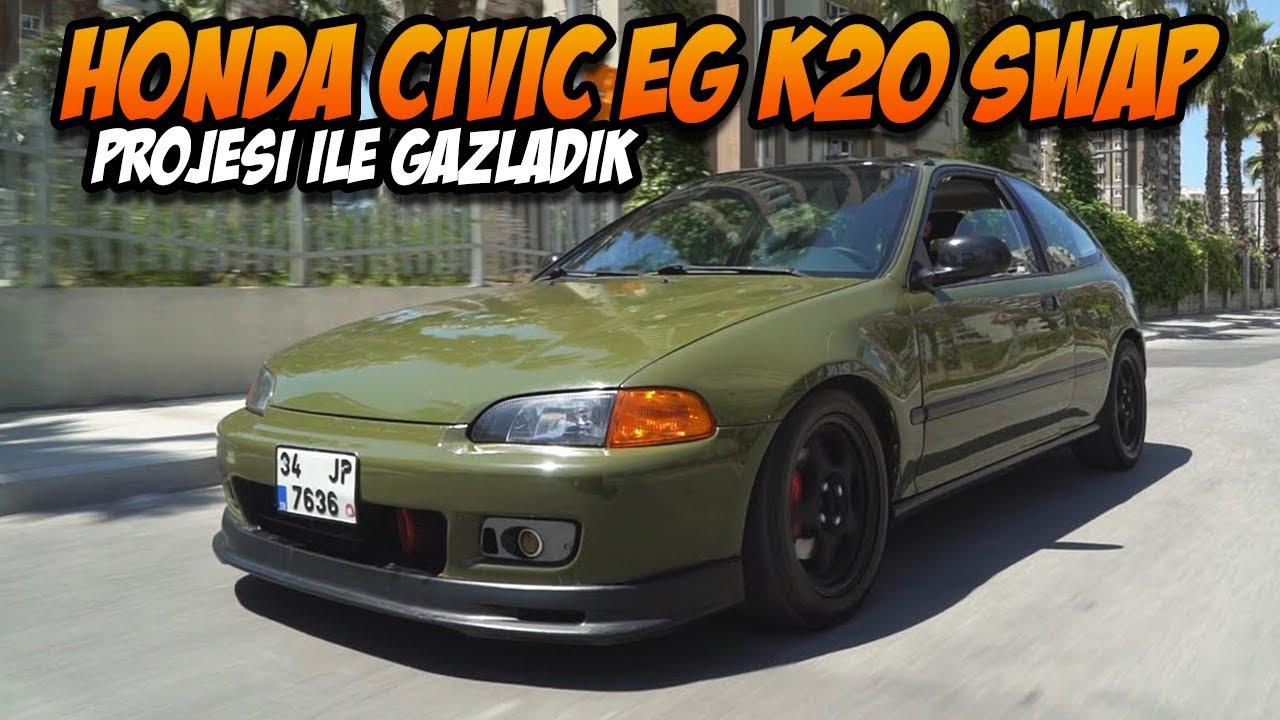 Honda Civic EG K20 Swap Test Sürüşü / Type-R ciğerli EG - YouTube