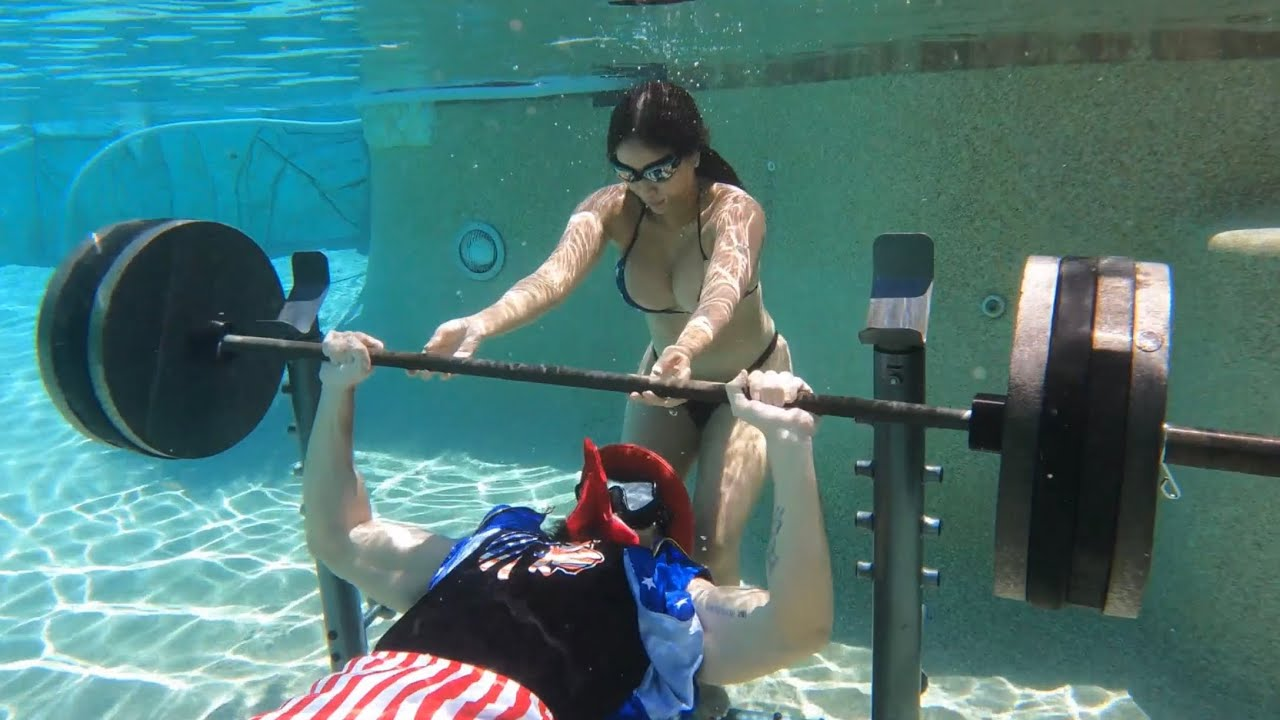 Download Bench Pressing 405 lbs Underwater #shorts