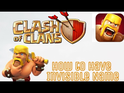 How To Have Invisible Name ( No Name ) In COC ||100% Working||2017 New Trick || Victor D'costa ||