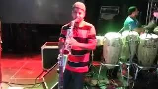Sandro Braga Sax.Sound check -Eric Gomes e Banda.