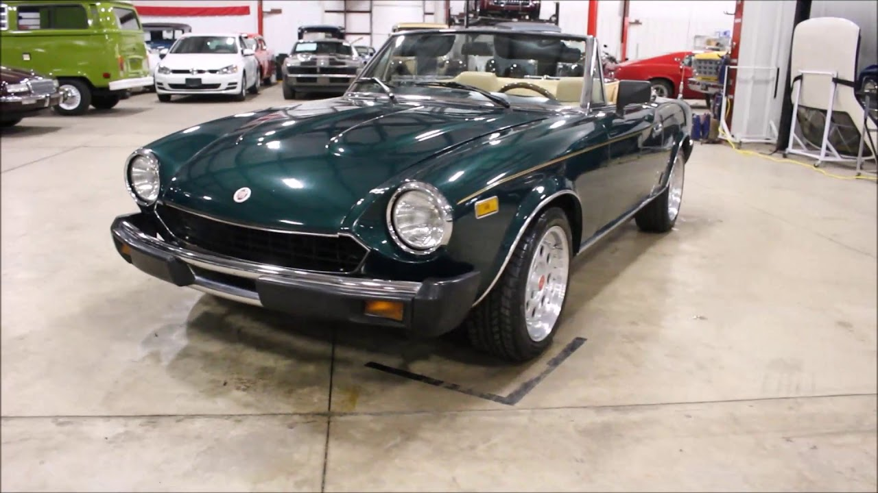 hight resolution of 1979 fiat spider 2000 green