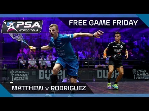 Squash: Free Game Friday  Matthew v Rodriguez  World Series Finals 2016