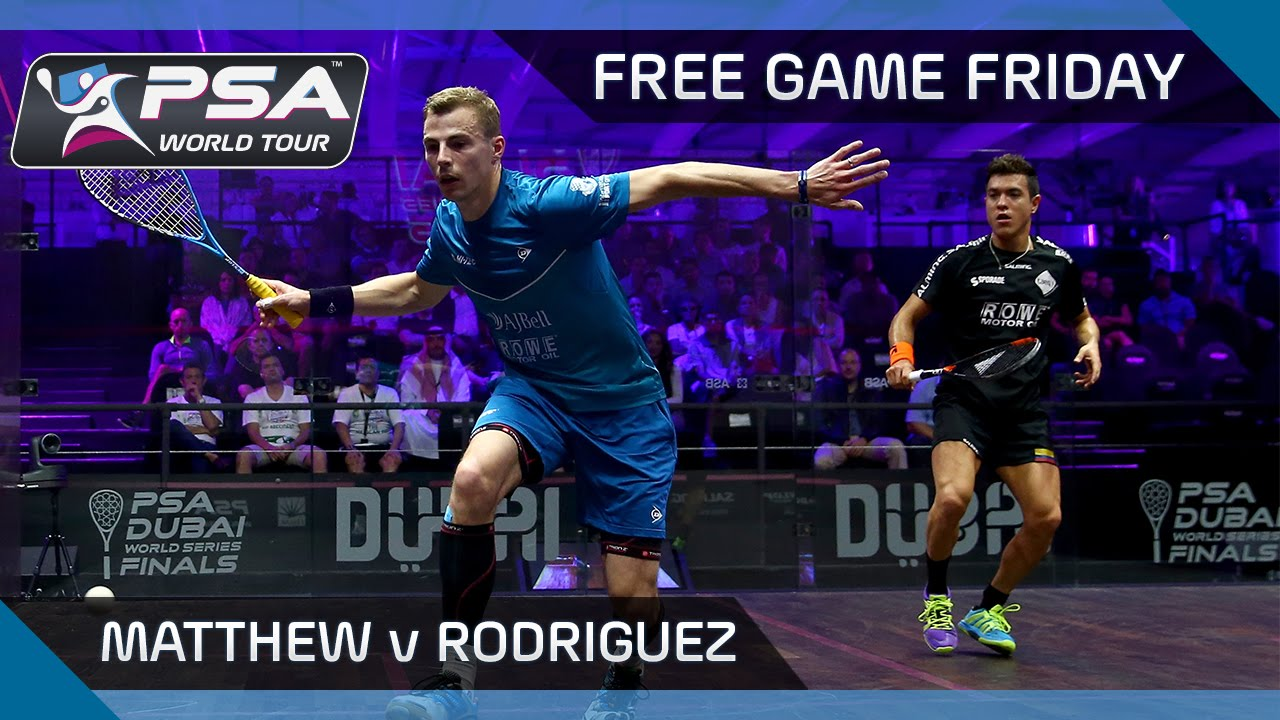 Squash Free Game Friday Matthew V Rodriguez World Series Finals 2016 Youtube