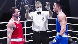 Чемпион мира из Казахстана против чемпиона из Чечни / Нокдаун в бою