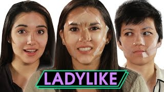 Women Try Tape Contouring • Ladylike