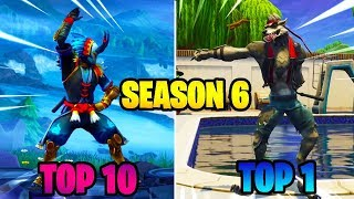 TOP 10 Best Dances/Emotes Of All Season 6..!!
