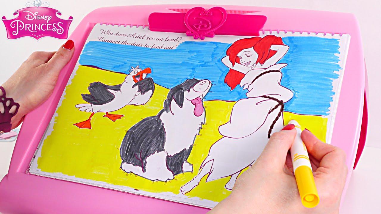 Disney princesas tablero de actividades 5 en 1 pintura for Pintura ligera de color topo