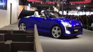 名古屋モーターショー2013 ダイハツブース コペン ボディを着せ替えでき...