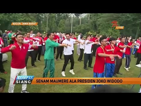 Senam Maumere ala Presiden Joko Widodo